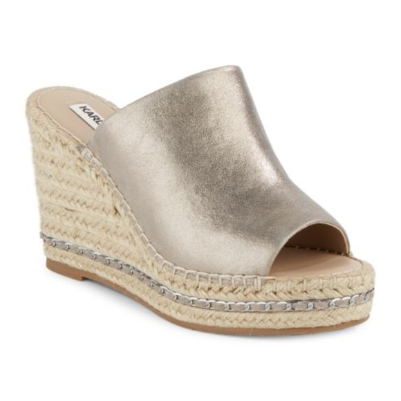 dd8335dc67 Karl Lagerfeld for Lord & Taylor Shoes - Karl Lagerfeld Paris woman's Leather  wedge sz 7.5